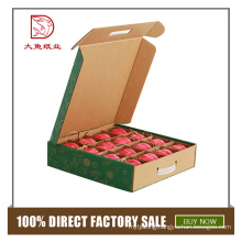 China custom printed recyclable farm packing paper apple box
