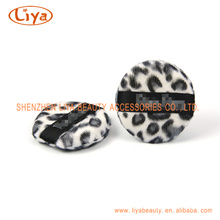Venda quente leopardo Puff cosméticos na forma diferente