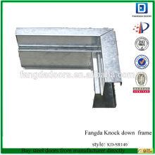 frame galvanizado do metal, frame de porta de aço galvanizado