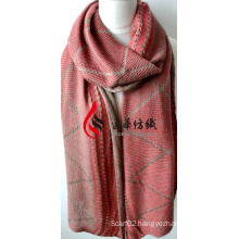 Acrylic Knitted Shawl (12-BR201812-9)