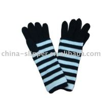 100% acrylic knitted striped fashion glove