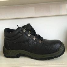 Chaussures de sécurité en cuir d'hommes de chapeau d'orteil en acier, chaussures de sécurité Ufc005