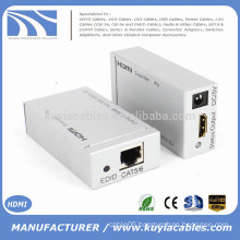 High quality HDMI Extender Ethernet with and over CAT5 CAT6 Converter 1080P 3D