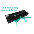 Fashion Black Hair Extension Packaging Box With Window
