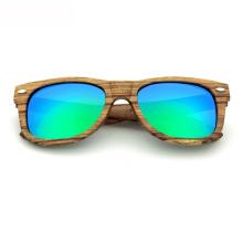 FQ marca el fabricante al por mayor hombre gafas de sol retro de madera