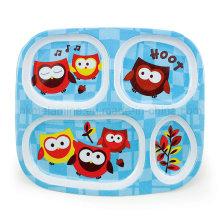Bandeja quente da refeição da compartimento dos miúdos da melamina (TR2126)
