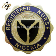 Free design zinc alloy soft enamel metal security badges in custom