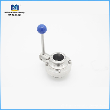 3A/DIN/SMS SS304/ 316L Sanitary Male Threaded Butterfly Valve with Multi-position Handle