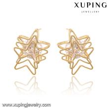92588-Xuping Art- und Weisemoderne Nobby, die Stern-Ohrringe für Großverkauf überschneiden