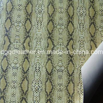 Superfície de cobra de couro de dupla face PU sapatos de couro (QDL-SP042)
