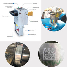 hot sale electric cnc handheld Steel structural steel plate dot peen marking machine