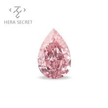 ForeverFlame  fancy pink  Pear Cut diamond CVD CZ Moissanite