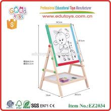 Mini oficina de madera de la caballete de la venta caliente y equipo de la escuela buena mini caballete de madera EZ2034