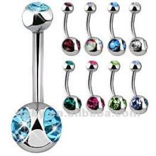Bague de ventre à base de bijoux en acier inoxydable de haute qualité