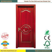 Puerta de madera doble habitación puerta de hierro