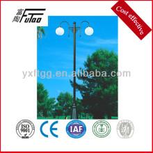 Poste de luz de calle con lámpara hps