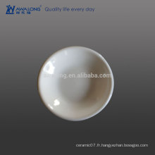 Thick Edge Plain White Hot Sale Plat de sauce à la porcelaine fine, plat de casserole en céramique