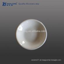 Grosso Borda Plain Branco Hot Sale prato de porcelana fina molho, prato de cerâmica caçarola