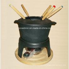 Fondue de ferro fundido pré-formado para queijo e chocolate com certificado LFGB