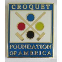 Pin de insignia de fundación de metal de alta calidad en cloisonné suave (badge-196)
