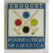 High Quality Metal Foundation Badge Pin in Soft Cloisonne (badge-196)