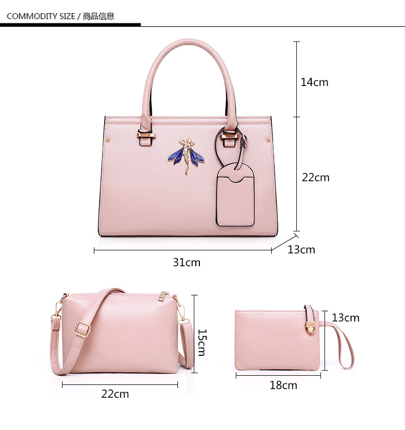 Fashion purses ladies handbag emboss pattern bags