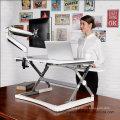 Loctek Support de bureau réglable en hauteur réglable en hauteur de 35 po, station de travail Sit-Stand, blanc (MT101M)