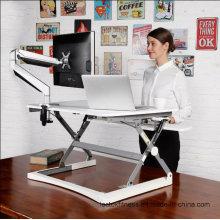 """Loctek 27"""" Wide Platform Height Adjustable Standing Desk Riser, Sit-Stand Workstation, White (MT101S)"""