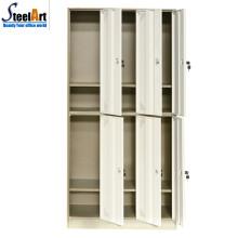 Casier d'école en métal de porte de haute qualité 6 pour le dortoir d'étudiant