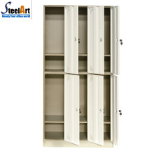 High quality metal 6 door school locker for student dormitory