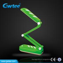 Indoor recarregável dobrável led bateria operado lâmpadas de mesa