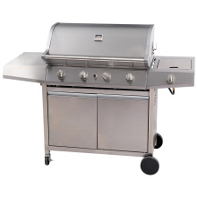 Stainless Steel United Professional Gas Barbecue Grill 4 Burner