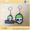 Logo personnalisé en forme de crâne Porte-clés en silicone 3d