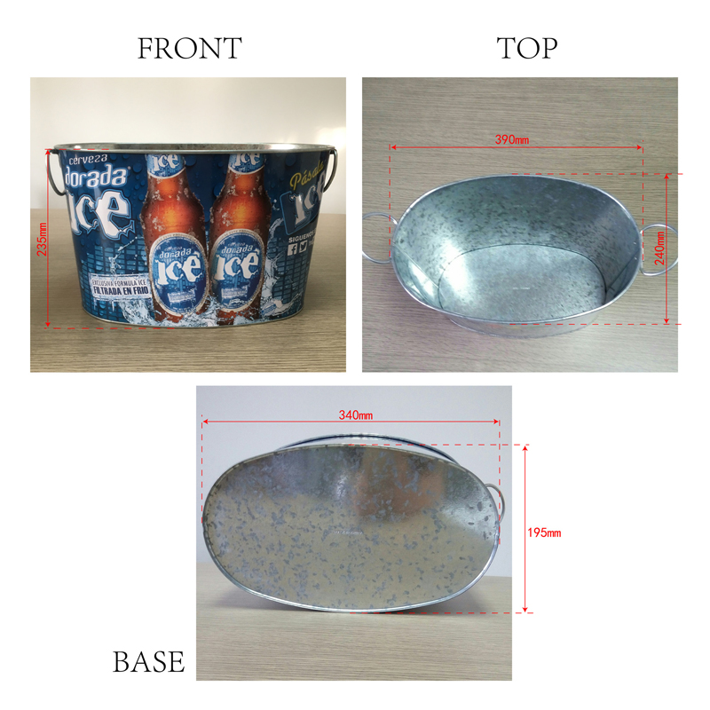 beverage zinc tub