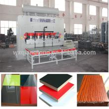 Automático de ciclo corto de melamina de laminación de prensa caliente / melamina de ciclo corto de prensa caliente