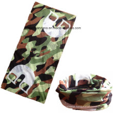 Custom Made Logo Printed Polyester Elastic UV Protection Sports Army Green Headband Buff
