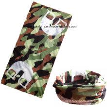 Custom Made Logo Poliéster Impresso Elastic UV Proteção Esportes Exército Verde Headband Buff