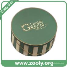 Большие напечатанные круглые картонные коробки Hat с ручкой (ZH002)