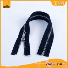 Oeko-tex Estándar más barato cremallera de metal personalizada ZM10011