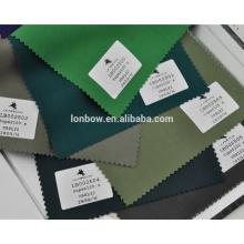 Lona de lycra leve de alta qualidade verde terno tecido personalizado