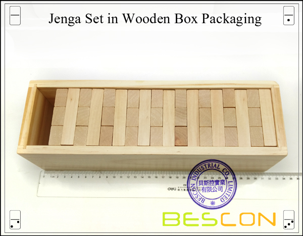 Jenga Set in Wooden Box Packaging-4