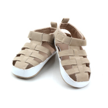 Fashion Soft Rubber PU Läder Baby Sanduals