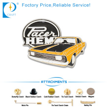 Pacei Forma do carro Pin Badge Intech Produto Made in China
