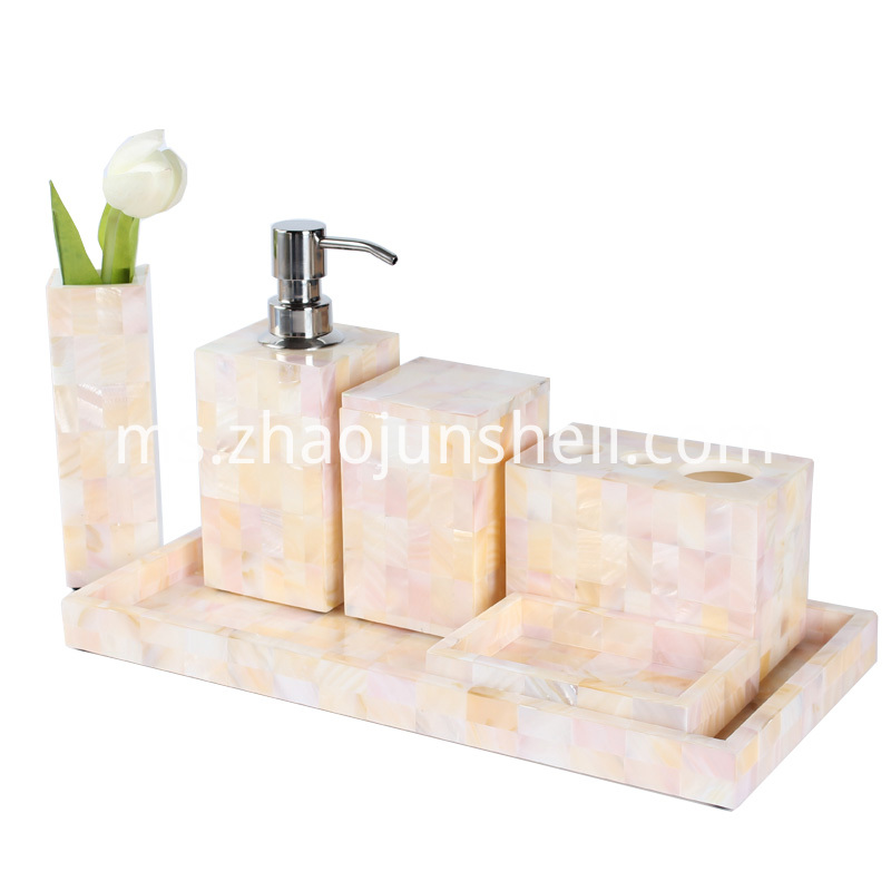 Handmade Mother of Pearl Bath Amenity Set