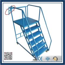 Оцинкованная стальная лестница для книжного шкафа