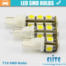 Autolamp BA9S T10 5050 1 SMD Car Bulbs 1W DC12V 24V LED Light Color White Blue Amber Green Red Beam