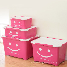 Smile Design Colorful Plastic Storage Box for Household Storage (SLSN031)