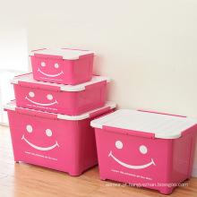 Smile Design Caixa de armazenamento de plástico colorido para armazenamento doméstico (SLSN031)