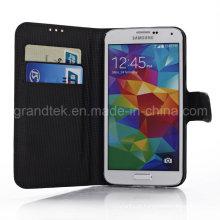Estojo de telefone de couro para Samsung Galaxy S5 I9600 acessórios de telefone de couro