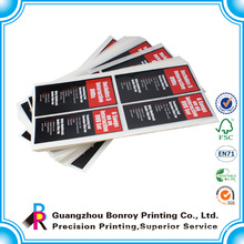 Offset printing full color die cut custom stickers
